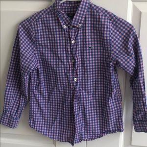 Vineyard Vines Sz 7 Boys Whale Shirt  - Worn Once